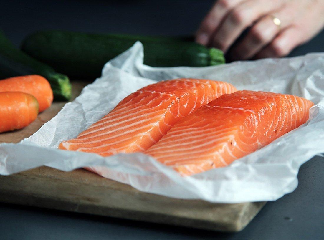 La mejor pescadería en Cáceres - Felipe Salgado - salmón al vapor